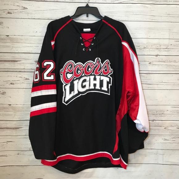 Vintage Coors Light Hockey Jersey Size XL